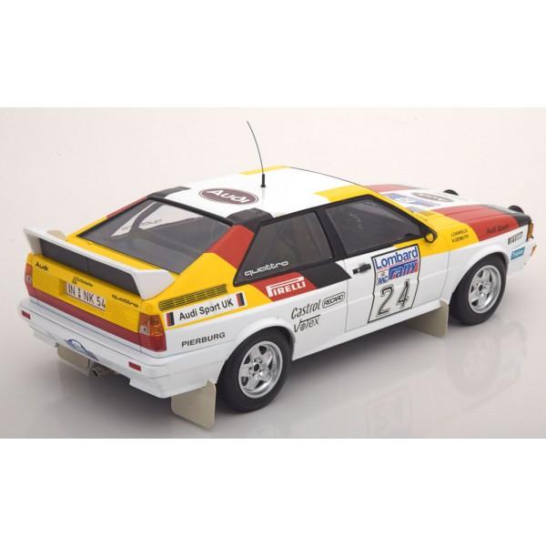 Audi Quattro No.24 Lombard RAC Rally 1982 Demuth/Daniels Limited Edition 350 pcs. Minichamps 1:18