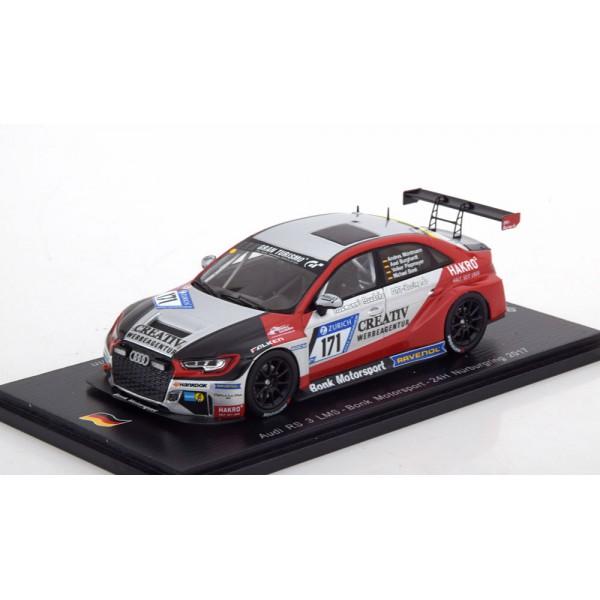 Audi RS3 LMS No.171, 24h Nürburgring 2017 Bonk/Pi...