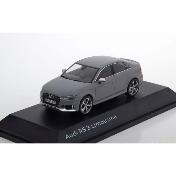 Audi RS3 Saloon 2016 grey special edition of Audi.I-Scale 1:43