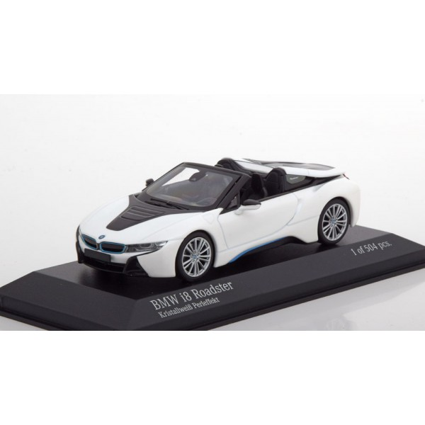 BMW i8 Roadster Convertible 2018 white black Limit...