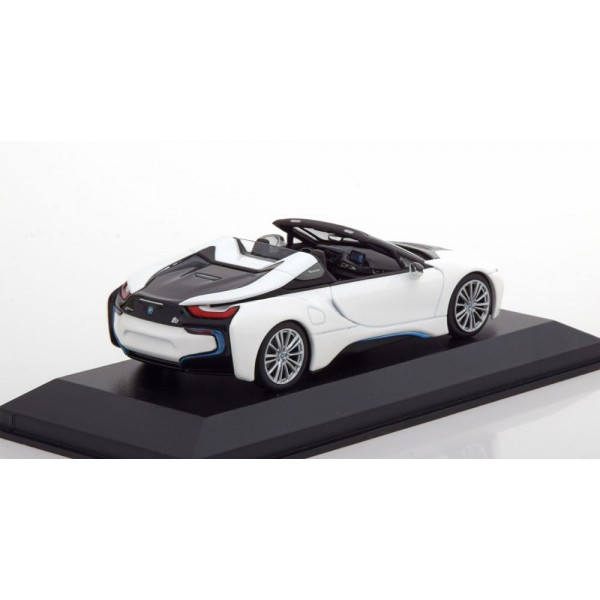 BMW i8 Roadster Convertible 2018 white black Limited Editionn 504 pcs.Minichamps 1:43
