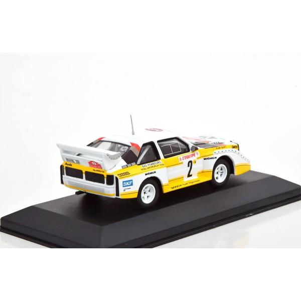 Audi Quattro Sport E2 No 2 Rally Monte Carlo 1986 Röhrl/Geistdörfer Night Version with lights.CMR 1:43