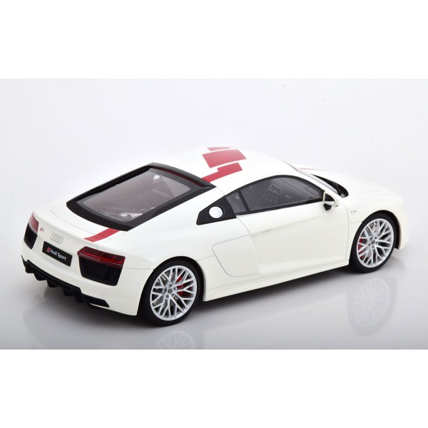 Audi R8 V10 RWS 2018 white red Limited Edition 150 pcs.GT Spirit 1:18