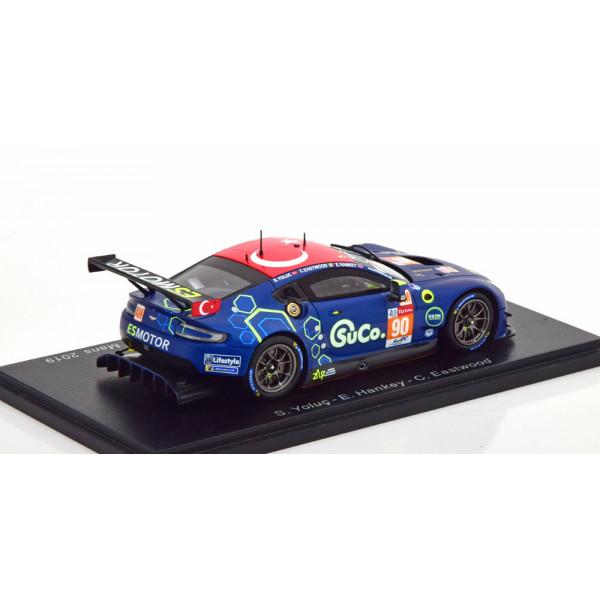 Aston Martin Vantage GTE No 90 24h Le Mans 2019 Eastwood/Yoluc/Hankey.Spark 1:43
