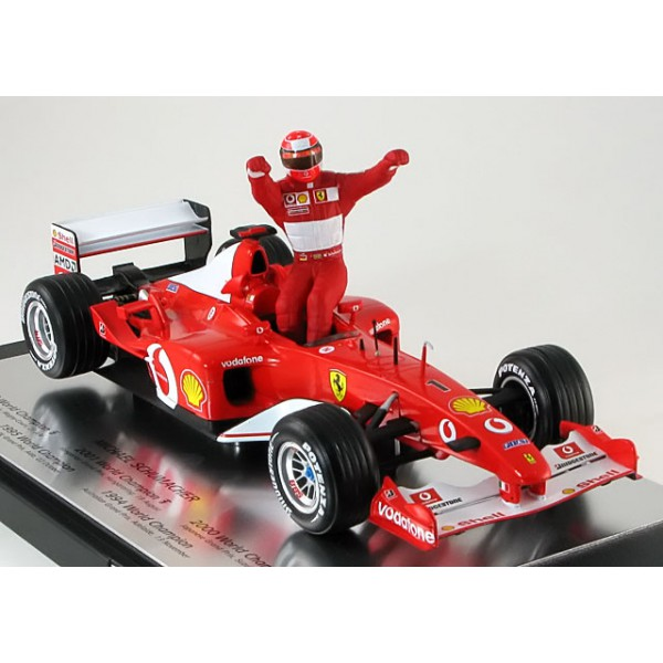 Ferrari F-2002 5times World Champion with figurine